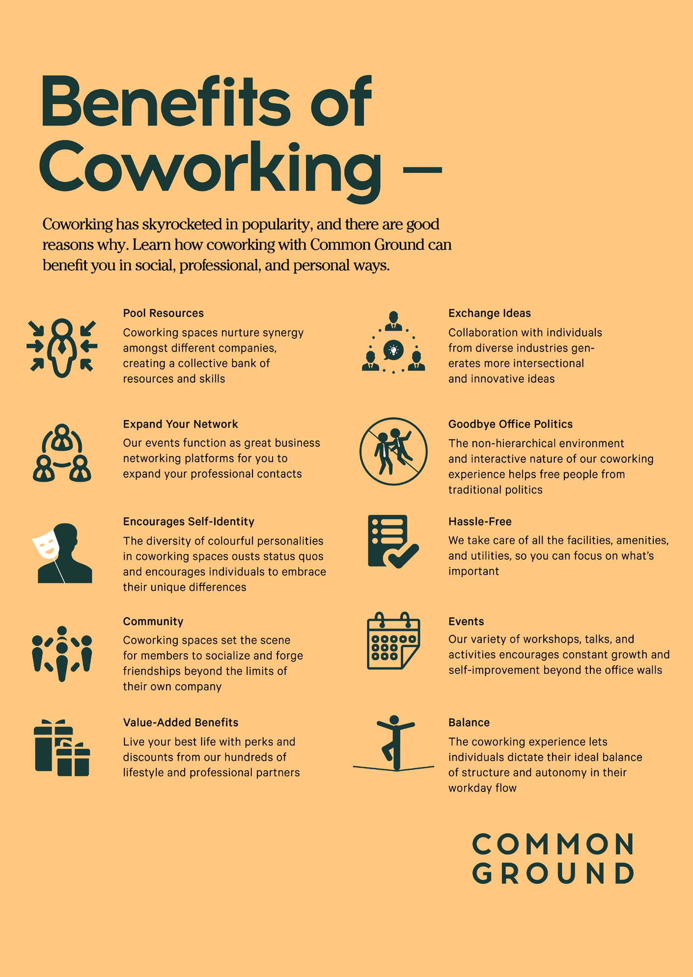 Common Ground - Benefits of Coworking