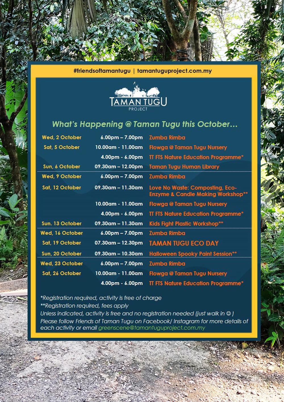 Taman Tugu Schedule